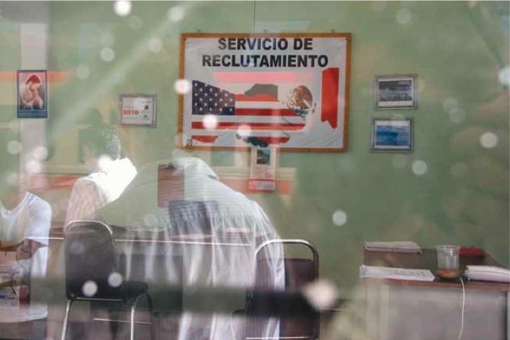 A recruitment agency office in Guanajuato, Mexico
